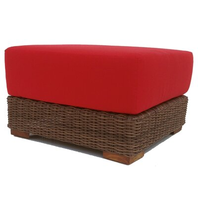 Santa Barbara Ottoman with Cushion Fabric: Sunbrella Aruba