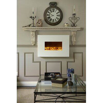 Dynasty Wall Mount Electric Fireplace - Finish: White at Sears.com