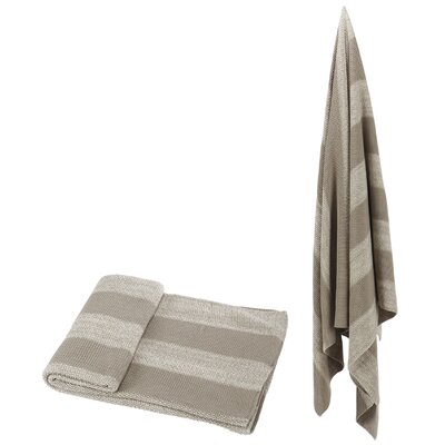 Cotton Throw Color: Taupe