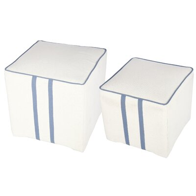 2 Piece Upholstered Cube Ottoman Set