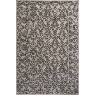 Timeless Silver Tranquility Area Rug Rug Size: Rectangle 53 x 78