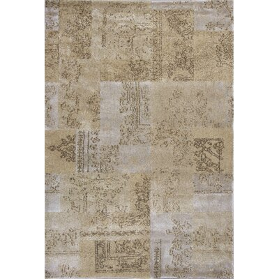 Timeless Champagne Tapestry Area Rug Rug Size: Rectangle 53 x 78
