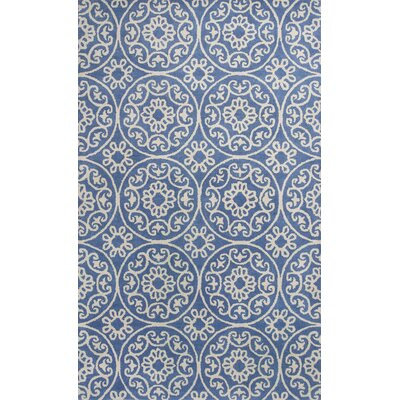 Harmony Hand-Woven Azure Blue Area Rug Rug Size: Rectangle 5 x 8