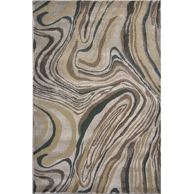 Timeless Silver Wood Grains Area Rug Rug Size: 53 x 78