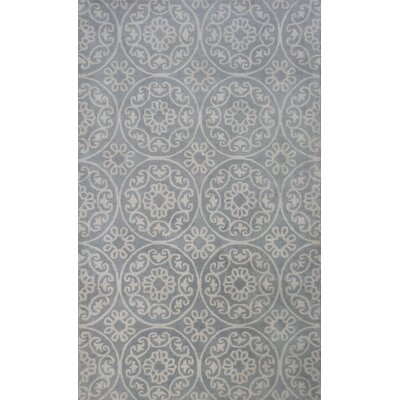 Harmony Hand-Woven Gray Area Rug Rug Size: Rectangle 5 x 8