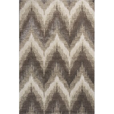 Timeless Champagne Chevron Area Rug Rug Size: Rectangle 53 x 78