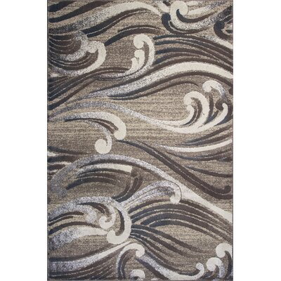 Timeless Natural Scrolls Area Rug Rug Size: 53 x 78