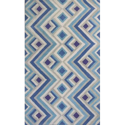 Harmony Ivory/Blue Area Rug Rug Size: Rectangle 33 x 53
