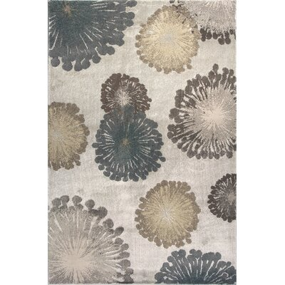 Timeless Silver Starburst Area Rug Rug Size: Rectangle 22 x 33