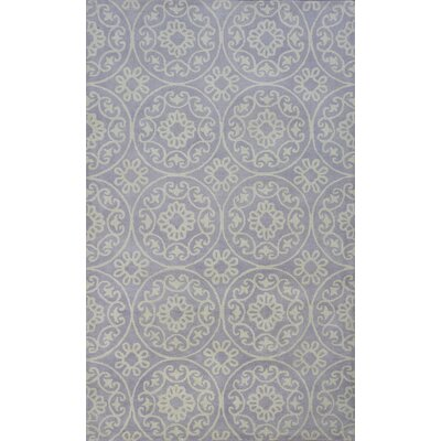 Harmony Hand-Woven Wool Lilac Area Rug Rug Size: Rectangle 33 x 53