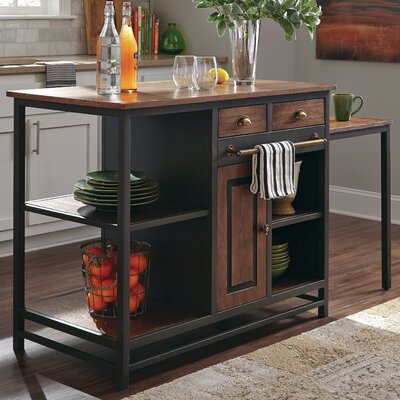 Home Accents Kitchen Island with Wood Top