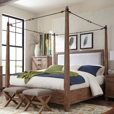 Madeleine Upholstered Canopy Bed Size: King