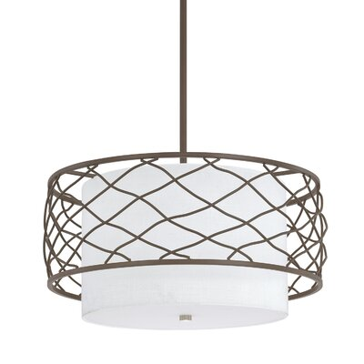 Sawyer 3-Light Drum Pendant Finish: Burnished Bronze