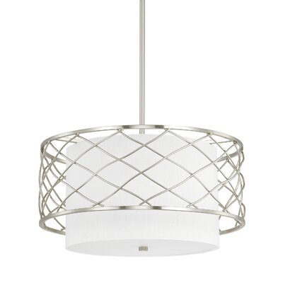 Sawyer 3-Light Drum Pendant Finish: Brushed Nickel