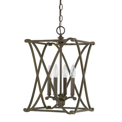 Alexander Foyer Pendant Finish: Burnished Bronze, Size: 6-light