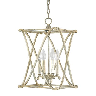 Alexander Foyer Pendant Finish: Winter Gold, Size: 4-light
