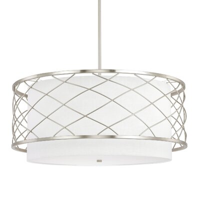 Sawyer 4-Light Drum Pendant Finish: Brushed Nickel