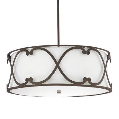 Alexander 4-Light Drum Pendant Finish: Burnished Bronze