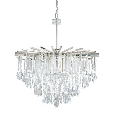 Caldwell Crystal Chandelier Size: 34.5 H x 30.25 W