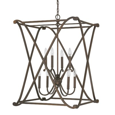 Alexander 8-Light Foyer Pendant Finish: Burnished Bronze