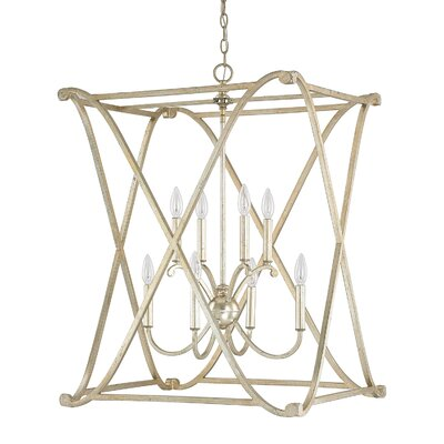 Alexander 8-Light Foyer Pendant Finish: Winter Gold