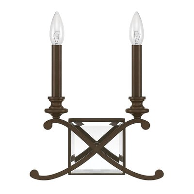 Alexander 2-Light Candle Sconce Finish: Burnished Bronze