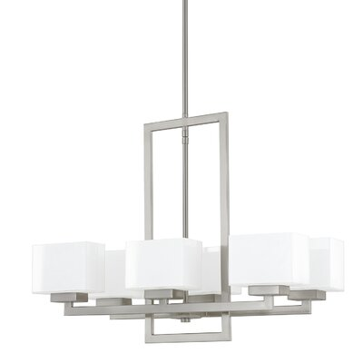 Tahoe 6-Light Kitchen Island Pendant Finish: Brushed Nickel