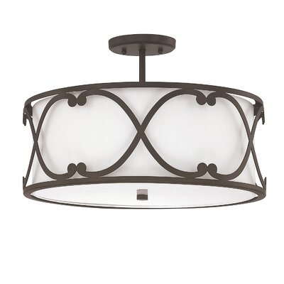 Alexander 3-Light Semi Flush Mount Finish: Burnished Bronze
