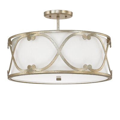Alexander 3-Light Semi Flush Mount Finish: Winter Gold