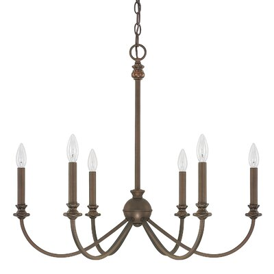 Alexander 6-Light Candle-Style Chandelier Finish: Burnished Bronze