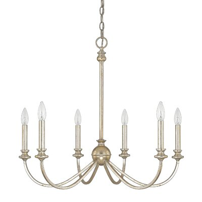 Alexander 6-Light Candle-Style Chandelier Finish: Winter Gold