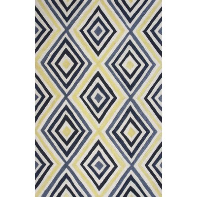 Donny Osmond Home Escape Handmade Ivory/Blue Area Rug Rug Size: 33 x 53