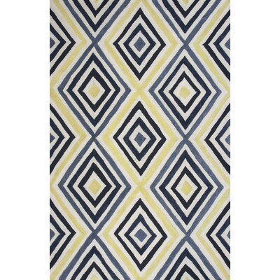 Donny Osmond Home Escape Handmade Ivory/Blue Area Rug Rug Size: 5 x 7