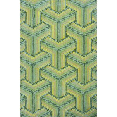 Donny Osmond Home Escape Handmade Green Area Rug Rug Size: 33 x 53