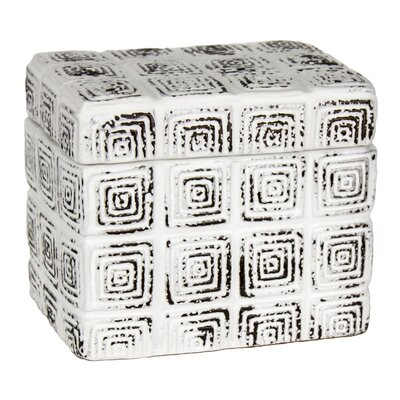 Decorative Cube Ceramic Covered Box