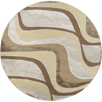 Timeless Metallic Visions Area Rug Rug Size: Round 77