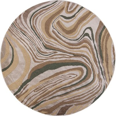 Timeless Silver Wood Grains Area Rug Rug Size: Round 77