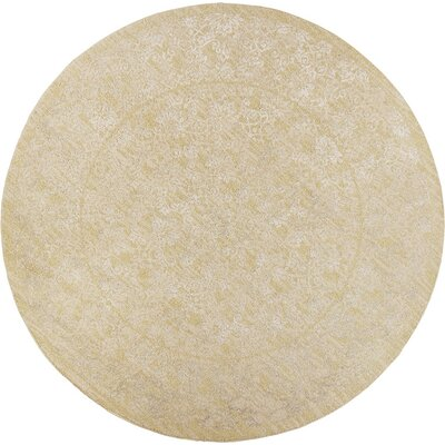 Timeless Champagne Tranquility Area Rug Rug Size: Round 77