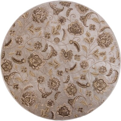 Timeless Silver Charisma Area Rug Rug Size: Round 77