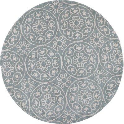 Harmony Hand-Woven Gray Area Rug Rug Size: Round 56
