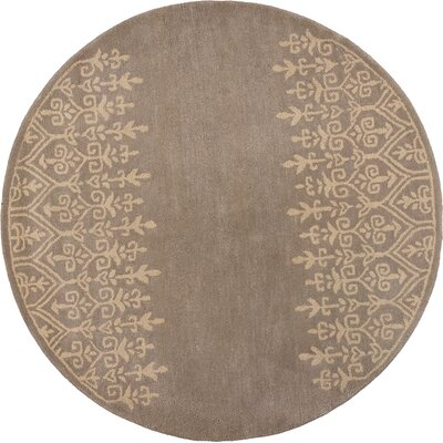 Harmony Mist Traditions Area Rug Rug Size: Round 56