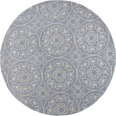 Harmony Hand-Woven Wool Lilac Area Rug Rug Size: Round 56