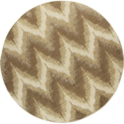 Timeless Champagne Chevron Area Rug Rug Size: Round 77