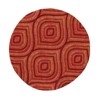 Donny Osmond Home Escape Handmade Red Area Rug Rug Size: Round 76