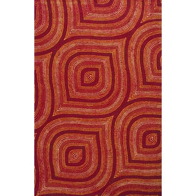 Donny Osmond Home Escape Handmade Red Area Rug Rug Size: Rectangle 76 x 96