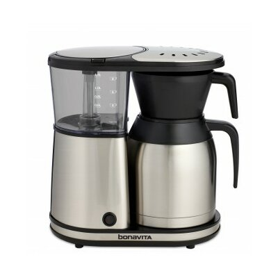 Bonavita BV1900TS 8 Cup Coffee Maker With Shatterproof Steel Lined Thermal Carafe Bodum Bistro 2 P 298412912