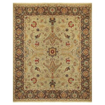 Goshen Brown/Tan Floral Area Rug Rug Size: 8'6