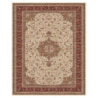 Daria Cream / Red Rug Rug Size: 5 x 8