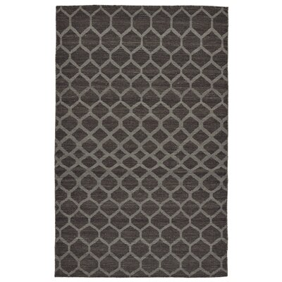 Hallock Hand-Loomed Charcoal Area Rug Rug Size: Rectangle 5 x 8