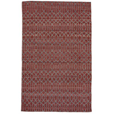 Prentiss Hand-Loomed Dark Red Area Rug Rug Size: 4 x 6